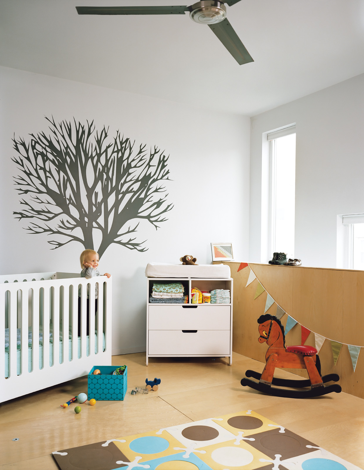 Modern baby room with Hiya crib from Spot on Square