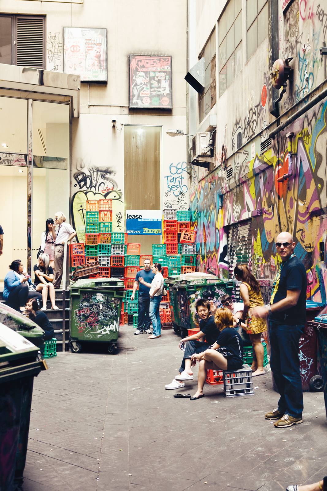 Croft Alley lane in Melbourne, Australia