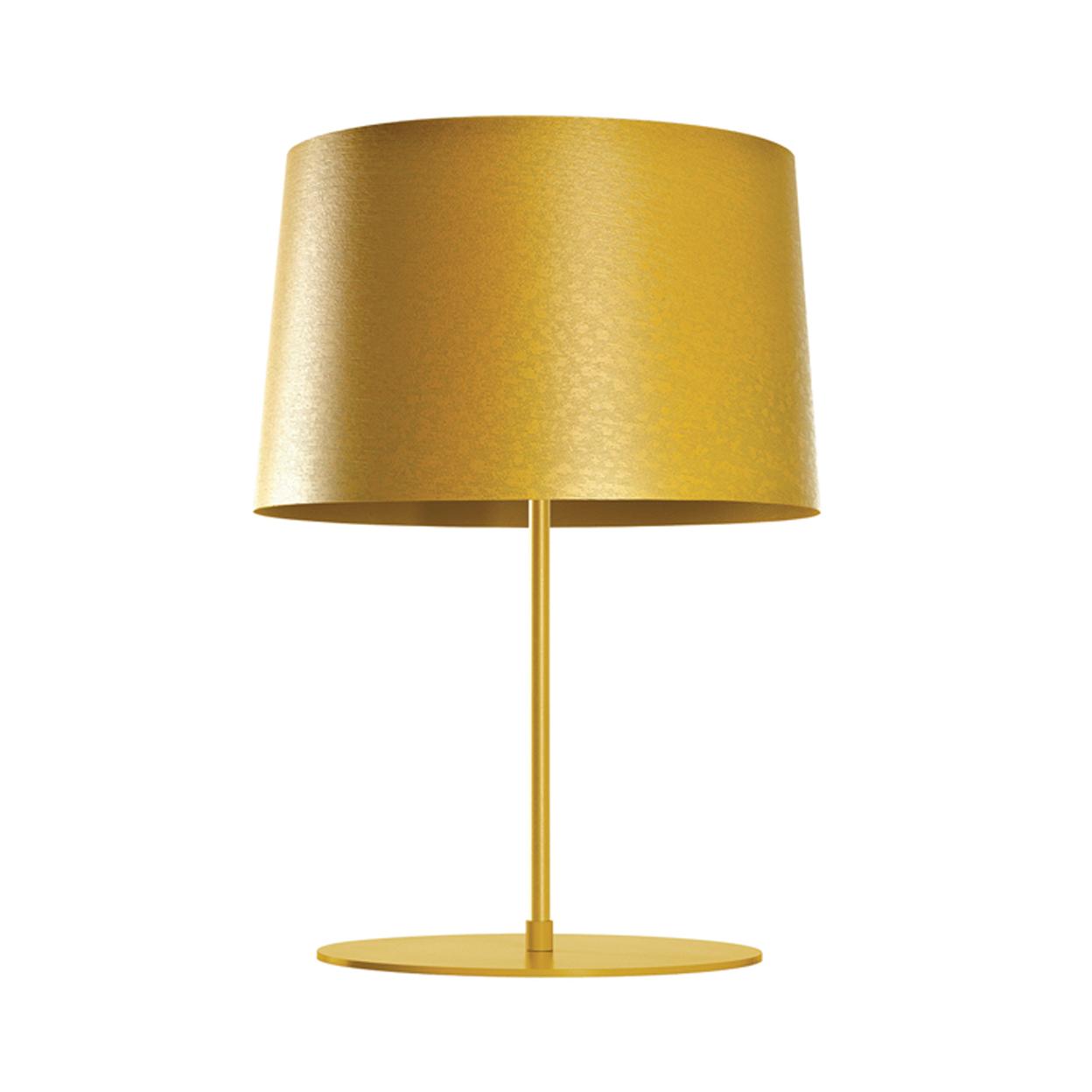 Modern golden table lamp.