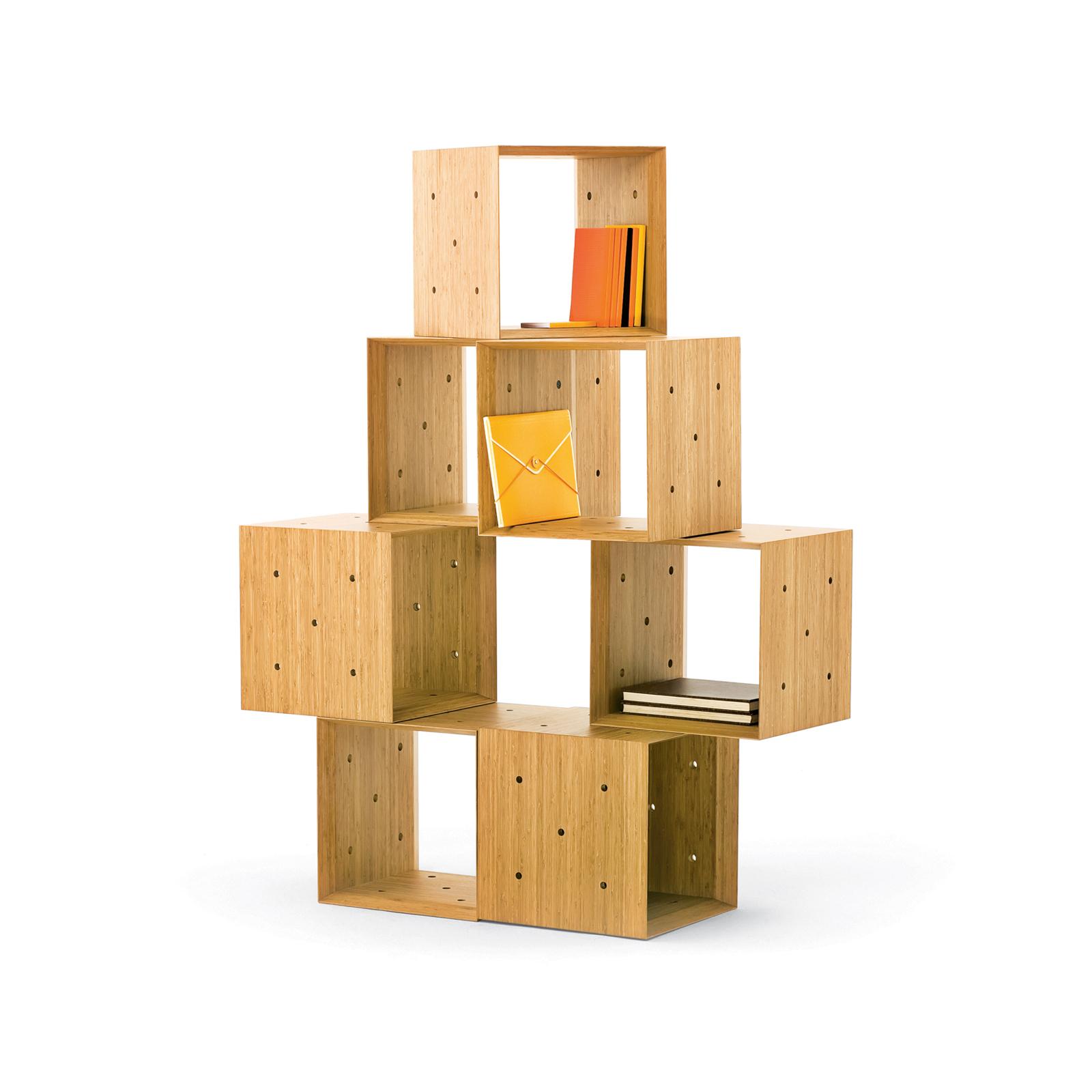 Wooden block storage units