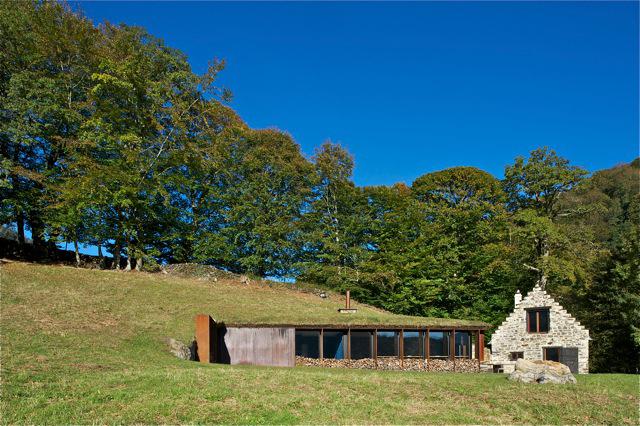 barn extension exterior