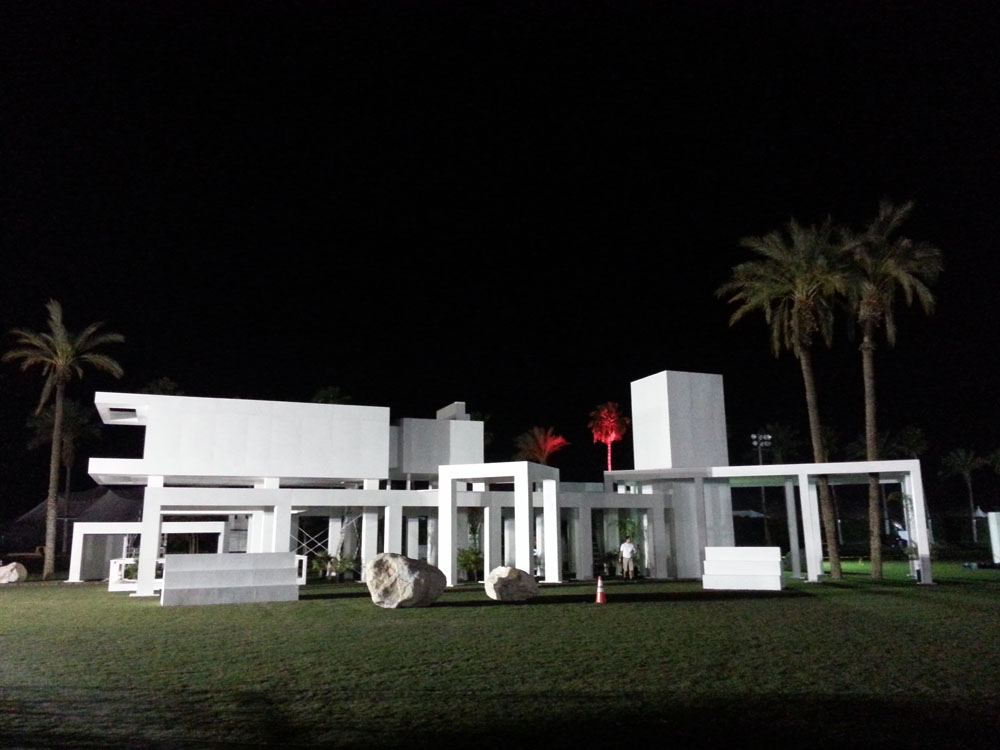 coachella modern structure night