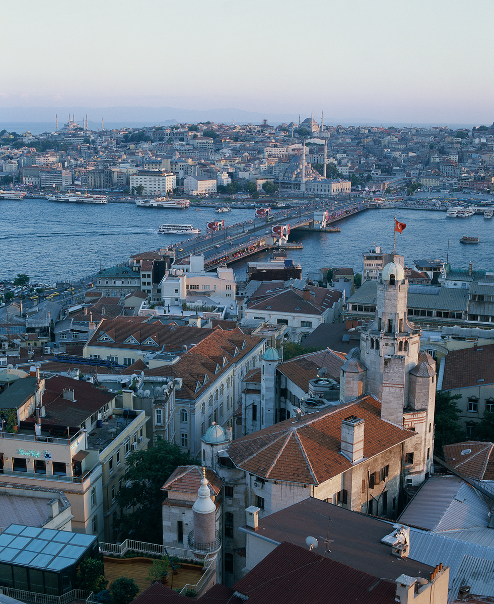 istanbul turkey galata tower city view 0