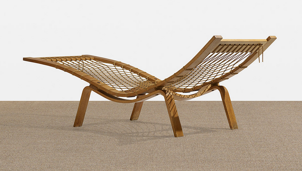 A papercord chaise by Hans Wegner from 1960 will go on sale at Wright's Scandinavian antiques auction on May 16.