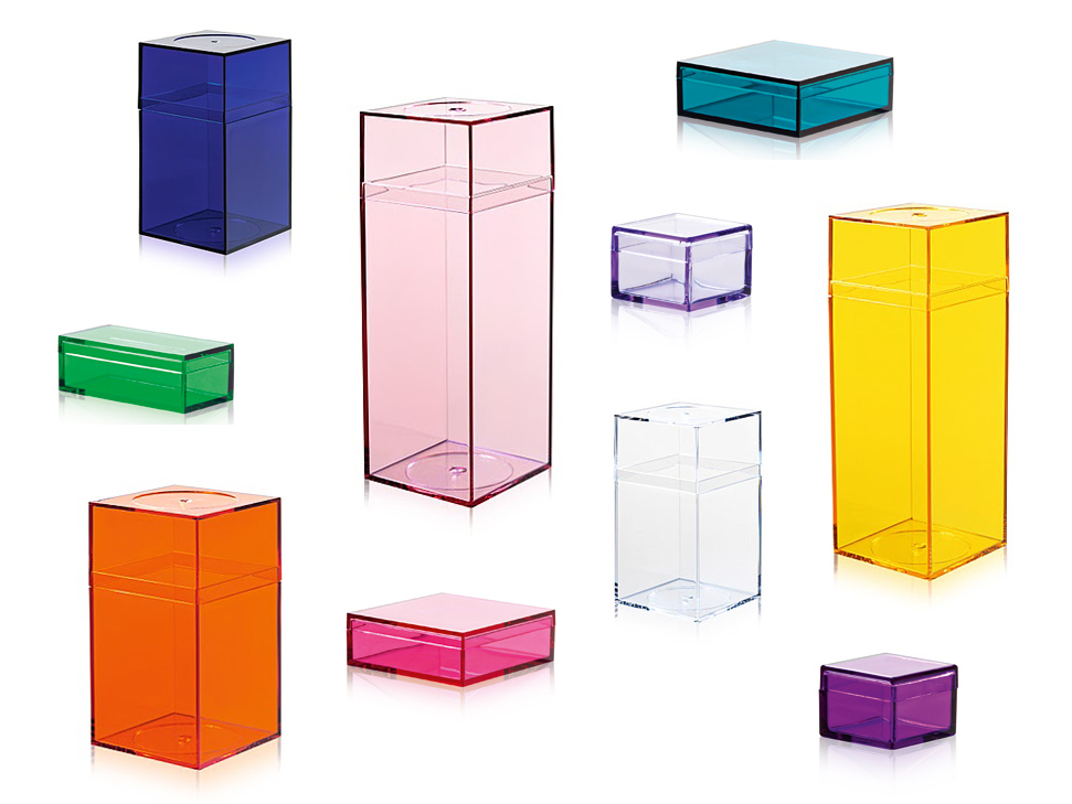Colorful plastic storage boxes from Nomess Copenhagen