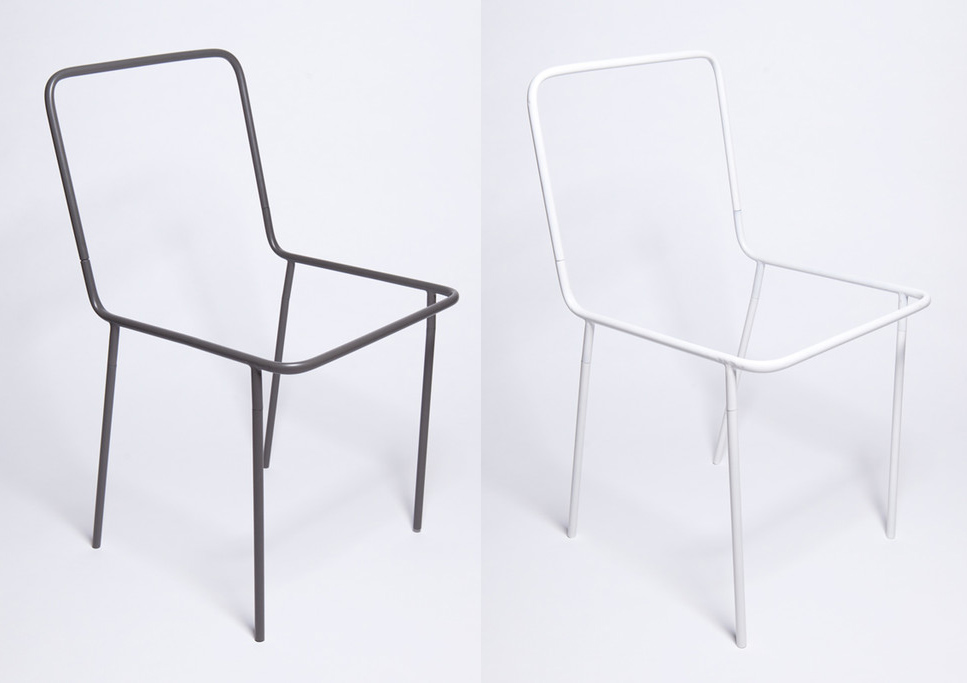 Sacrificial Chair from Thing Industries is available in Graphite or Off-White for $180