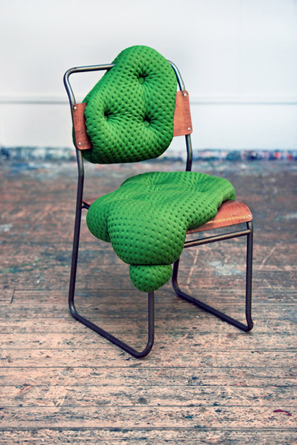 charlotte kingsnorth green chair front