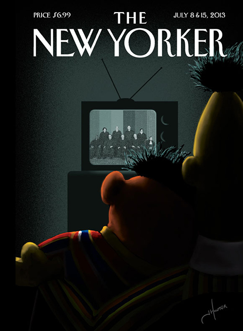 new yorker cover bert ernie gay marriage 580
