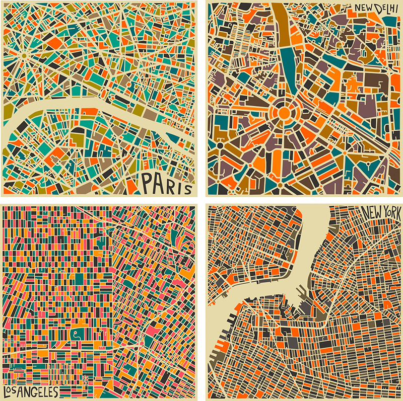 ff julia city map posters
