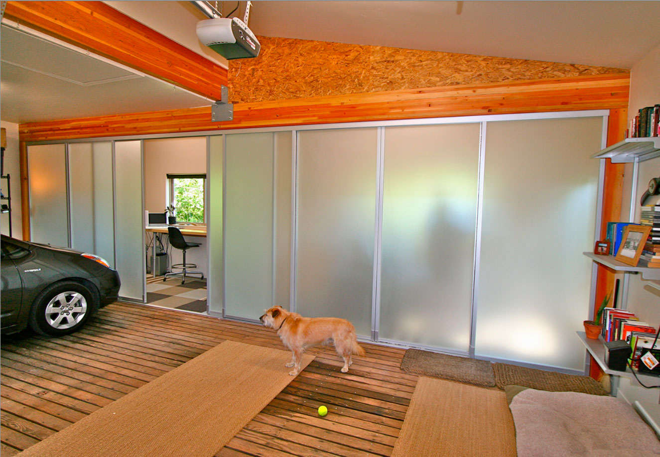 Sliding Door contest third place entry Garage office