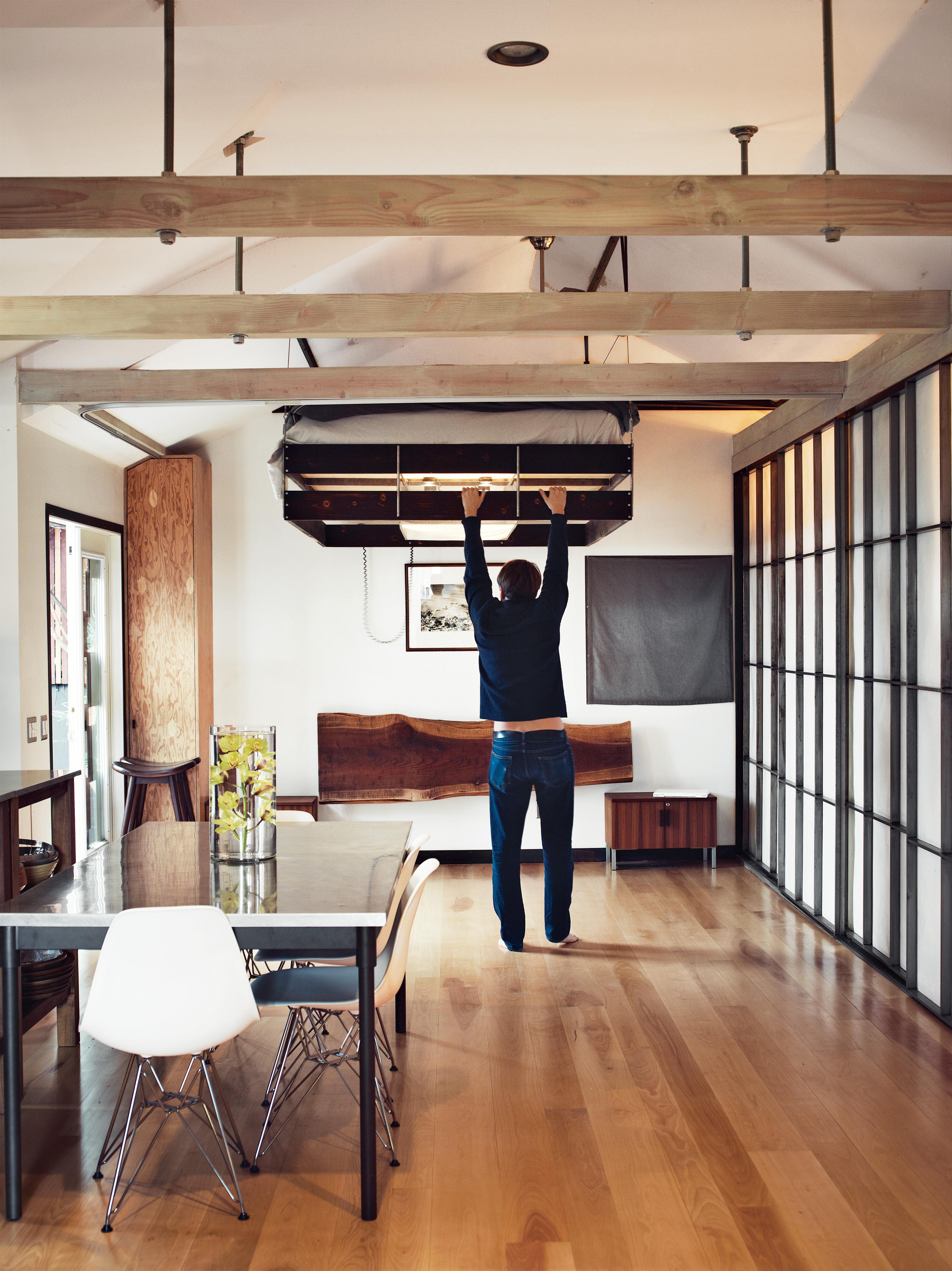 hollywood loft cabin bedroom