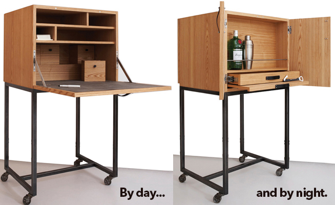 New Yorker Bar Cart front and back