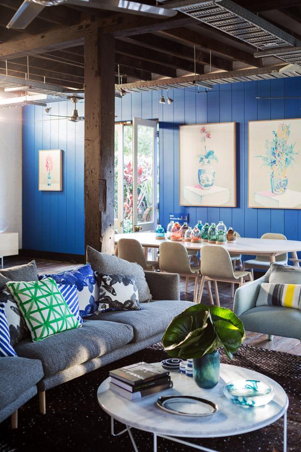 Design Files house Sydney Australia color Jardan furniture living room