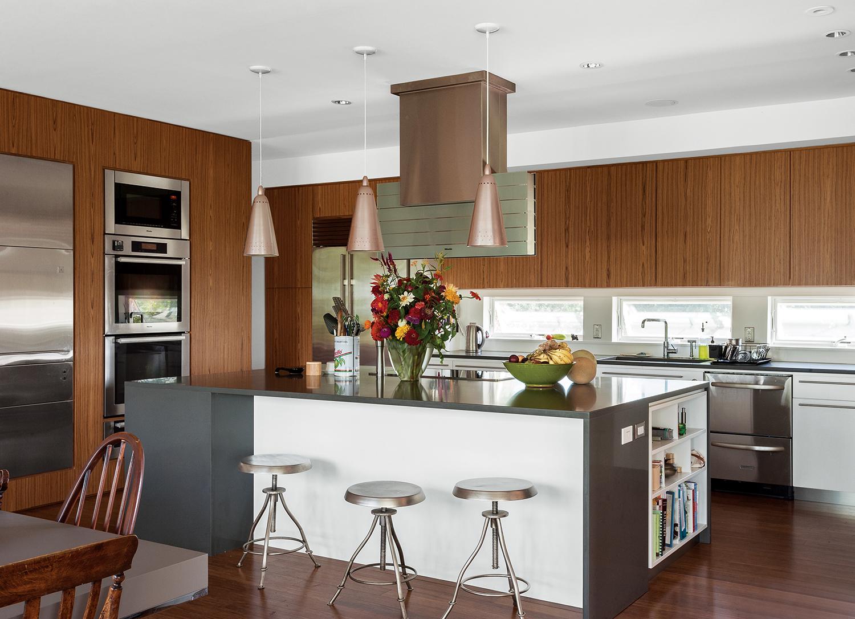Fishers Island prefab interior kitchen