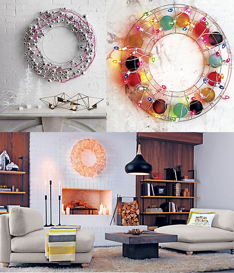 Wire Wreath from CB2