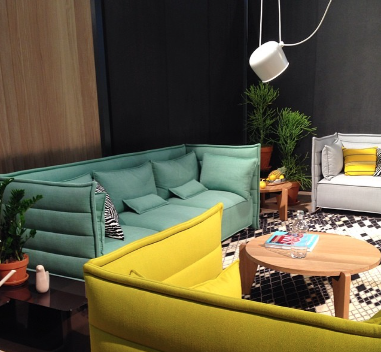 dwell instagram vitra green sofas icff 2014