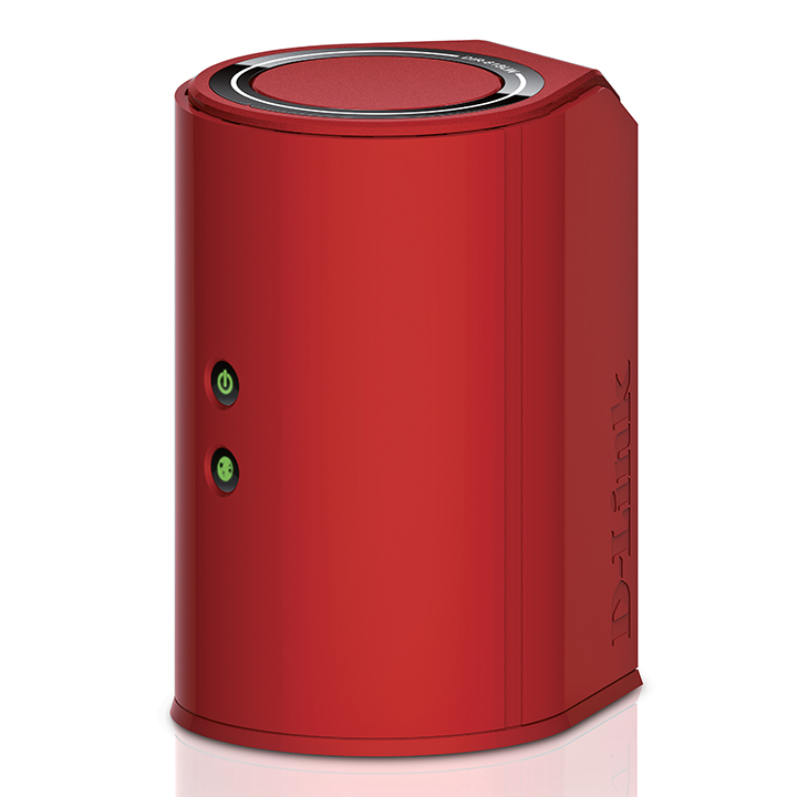 Dual Band Cloud Router by D-Link in red