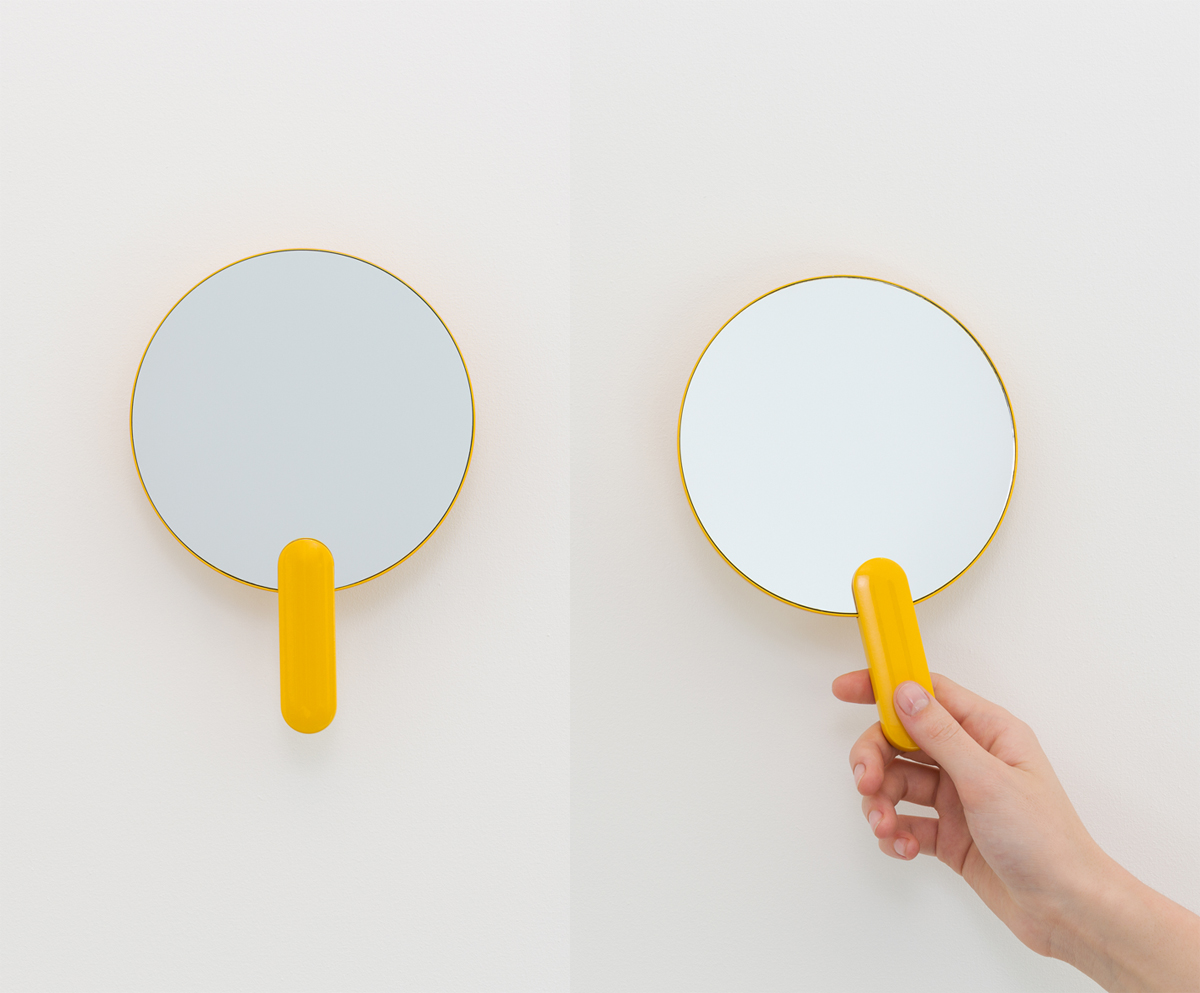 Sabi Space hand mirror, a universal design accessory for the bathroom by MAP Barber Osgerby