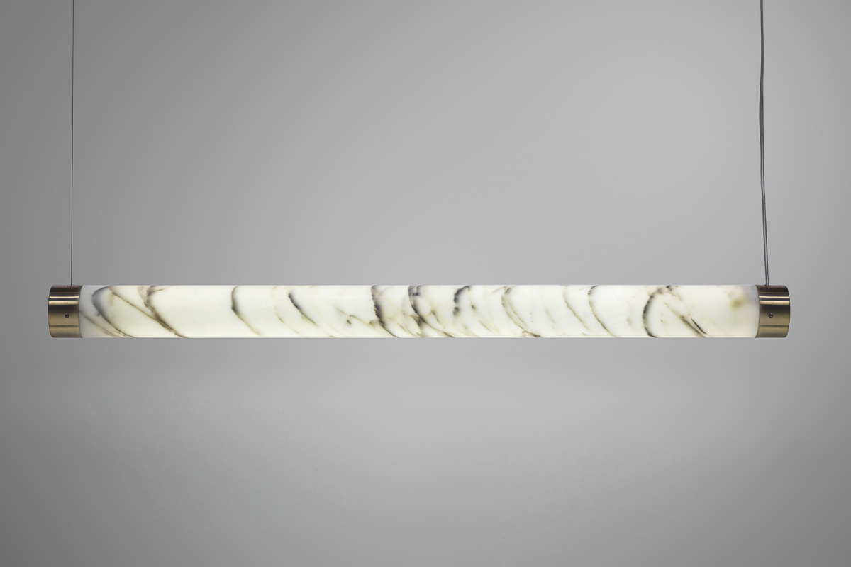 Lee Broom Nouveau Rebel marble Tube Light