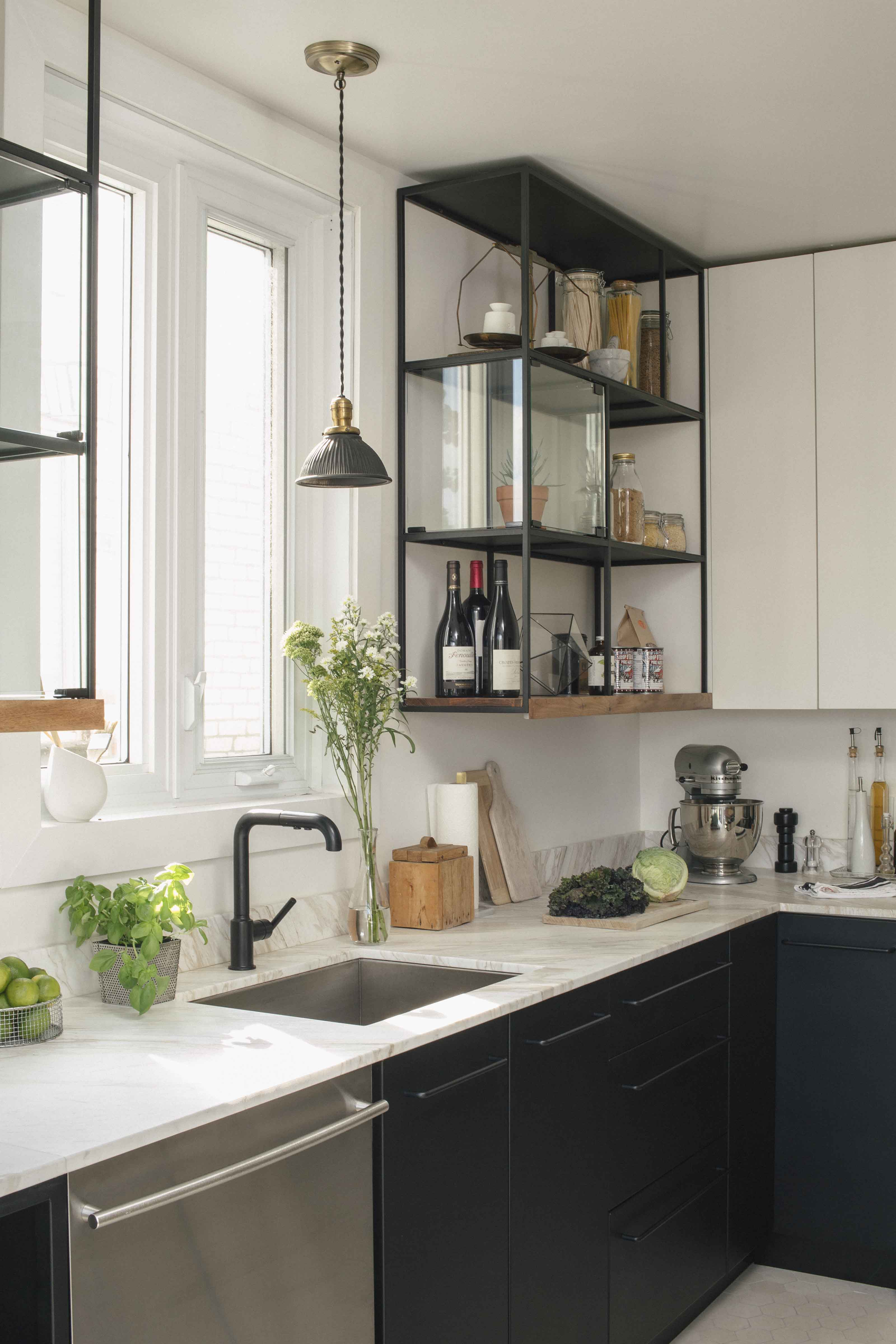 Montreal kitchen with IKEA cabinet hack