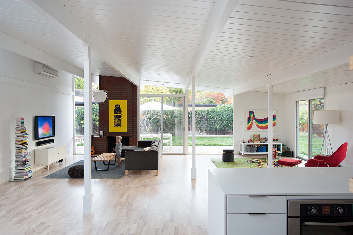 Eichler great room remodel in Mountain View