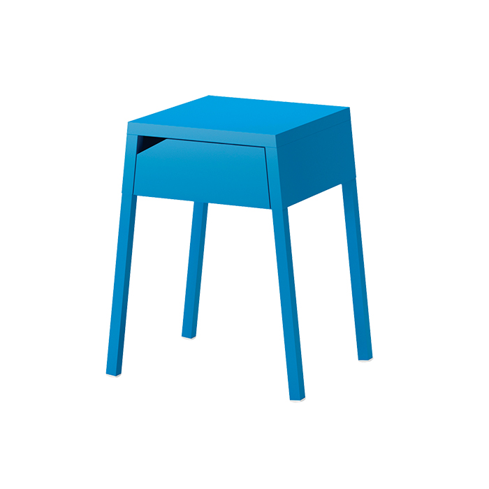 Blue Selje nightstand by Ikea