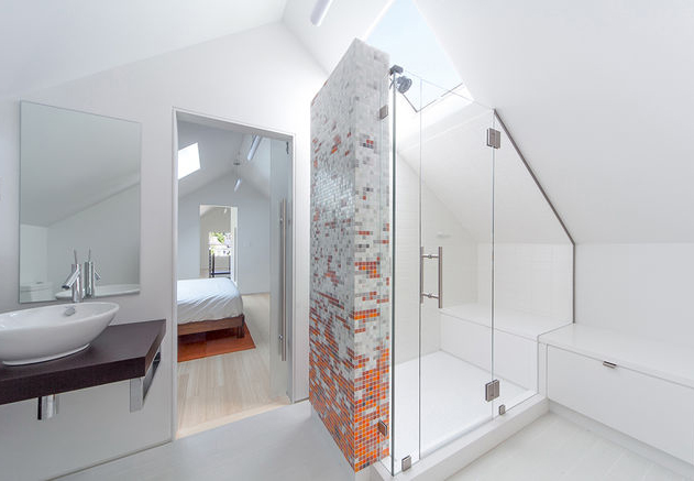 light in the attic bathroom tiled shower