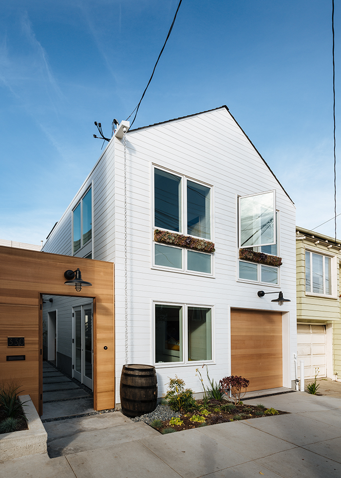 San Francisco remodel with white exterior and large windows
