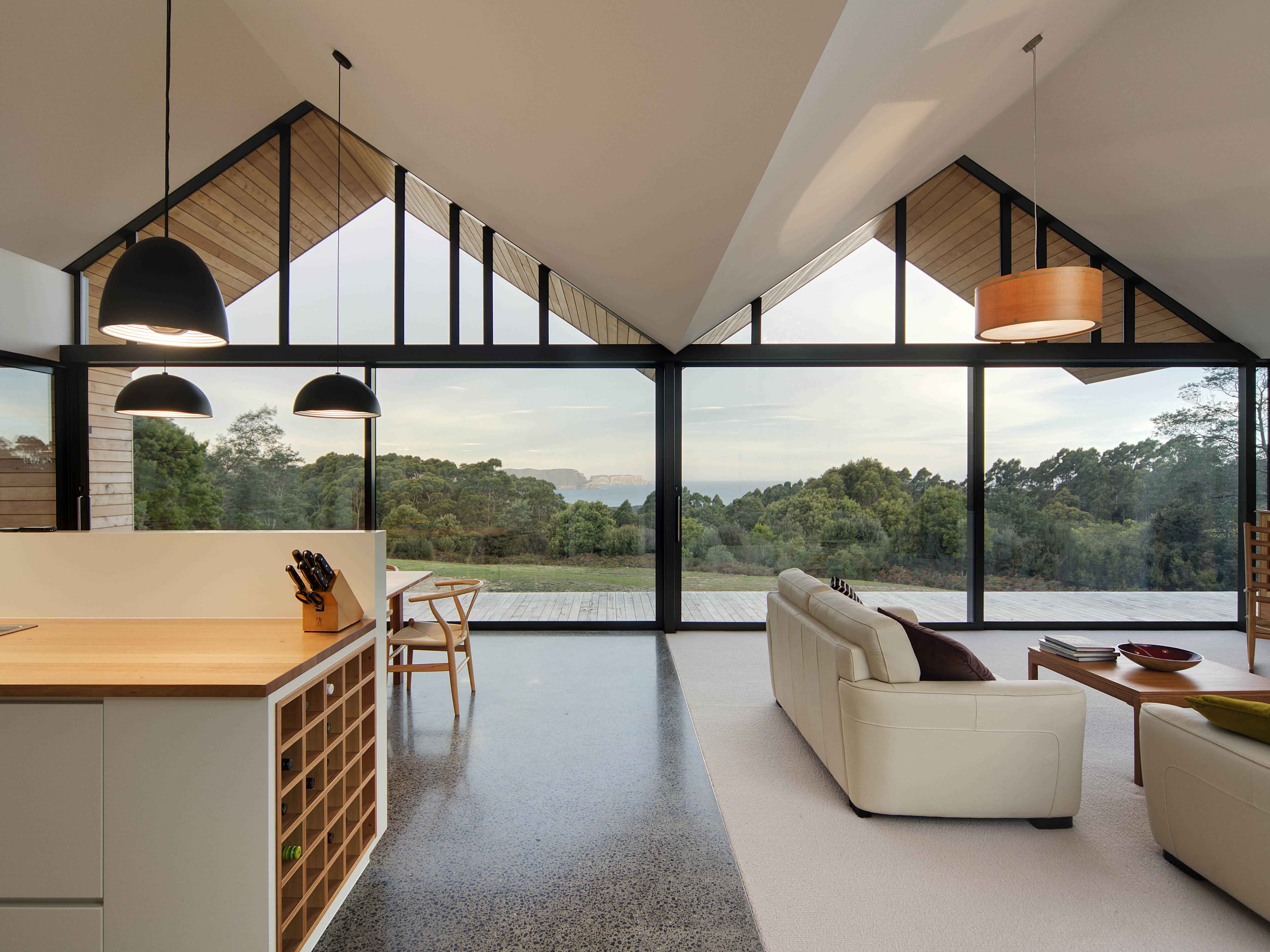 Panorama of the Lookout House in Tasmania