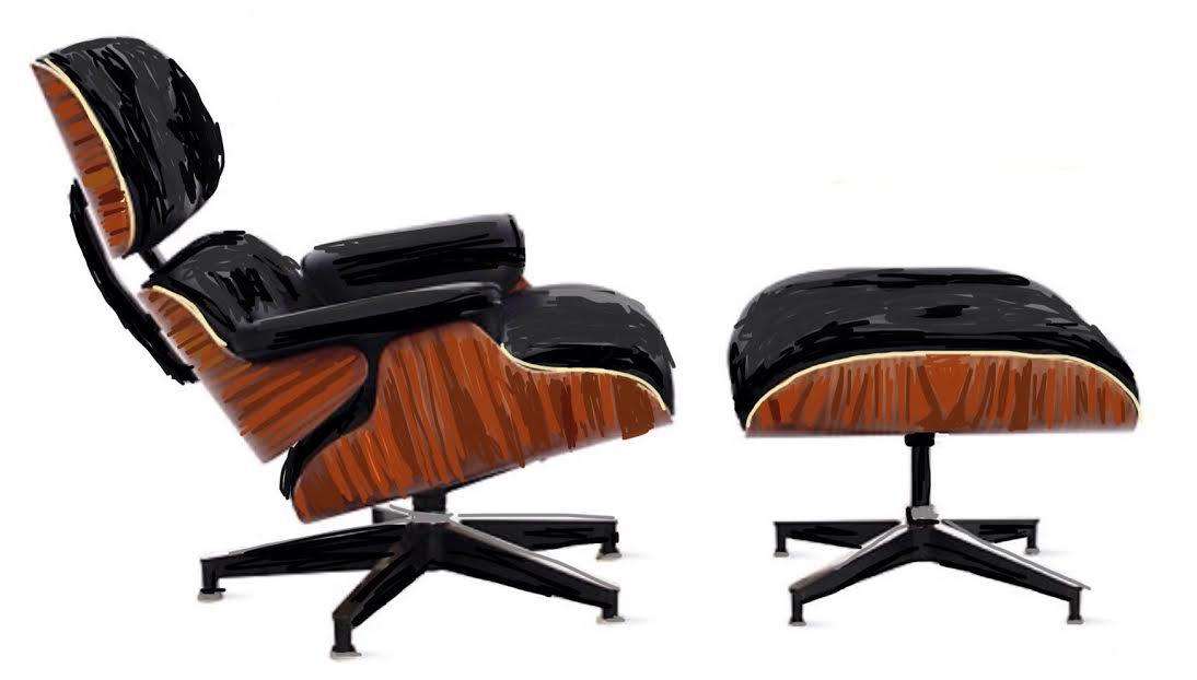 Eames lounge and ottoman