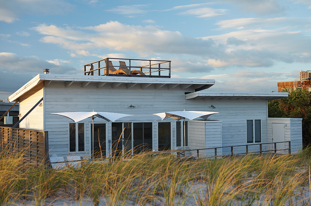 Fire Island beach home with roof deck