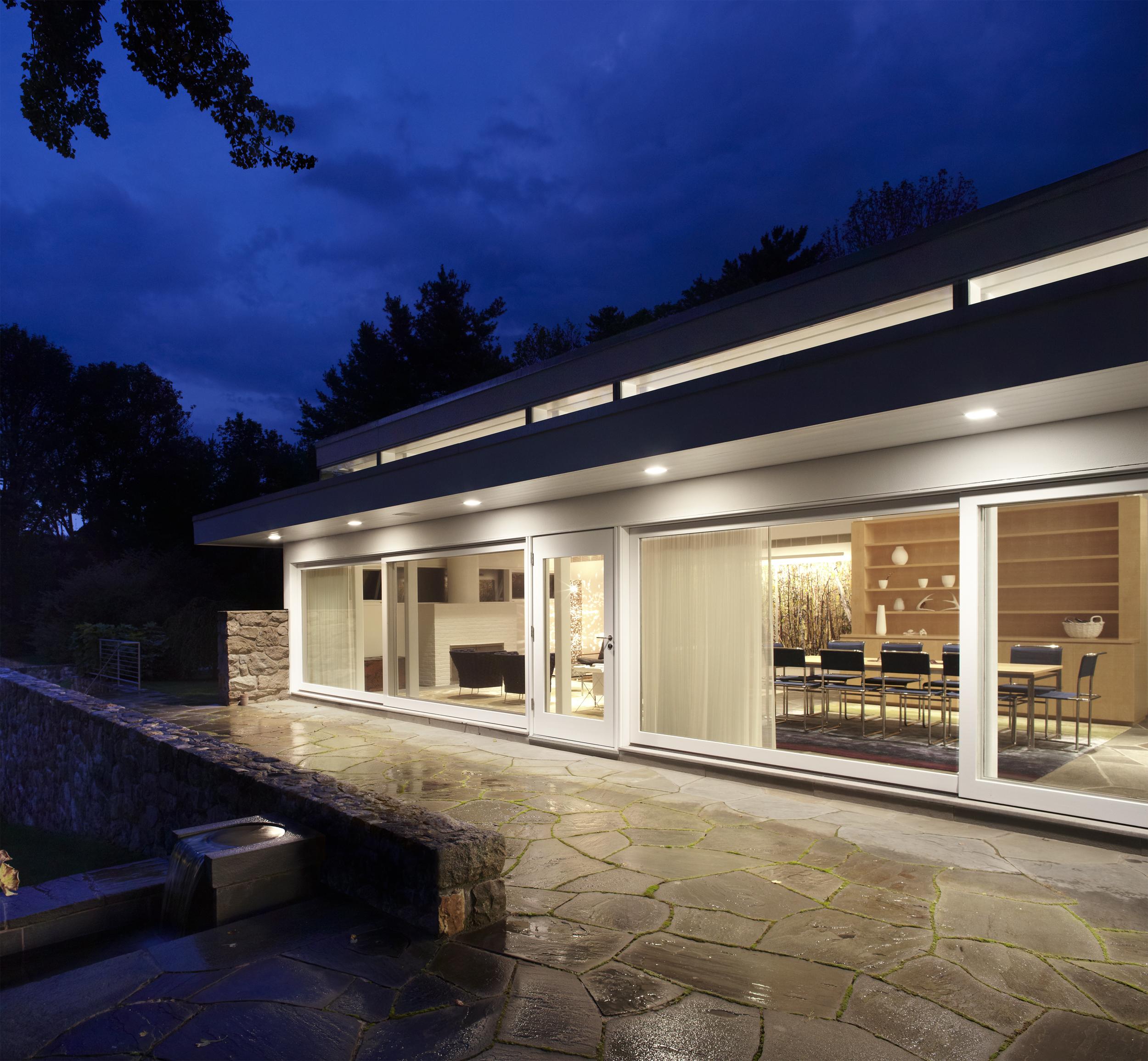 Marcel Breuer midcentury modern house in New Canaan