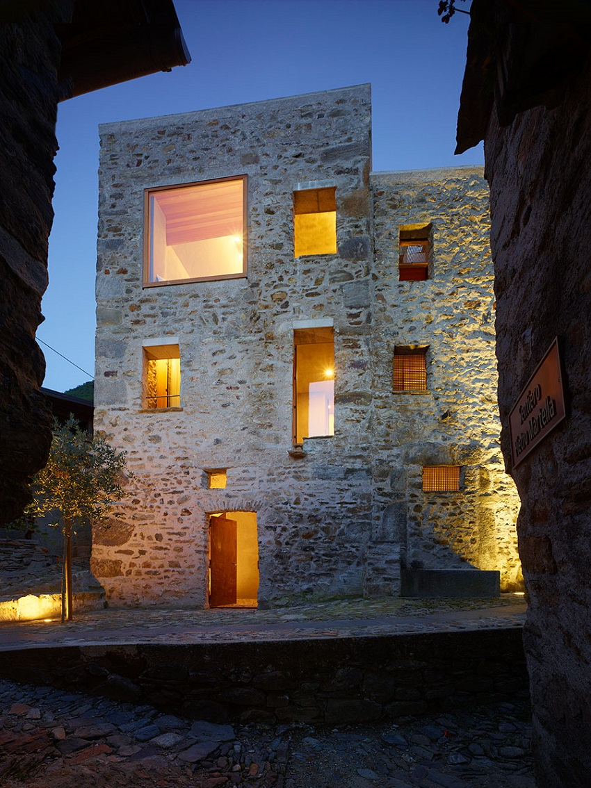 Scaiano Stone House Renovation in Switzerland
