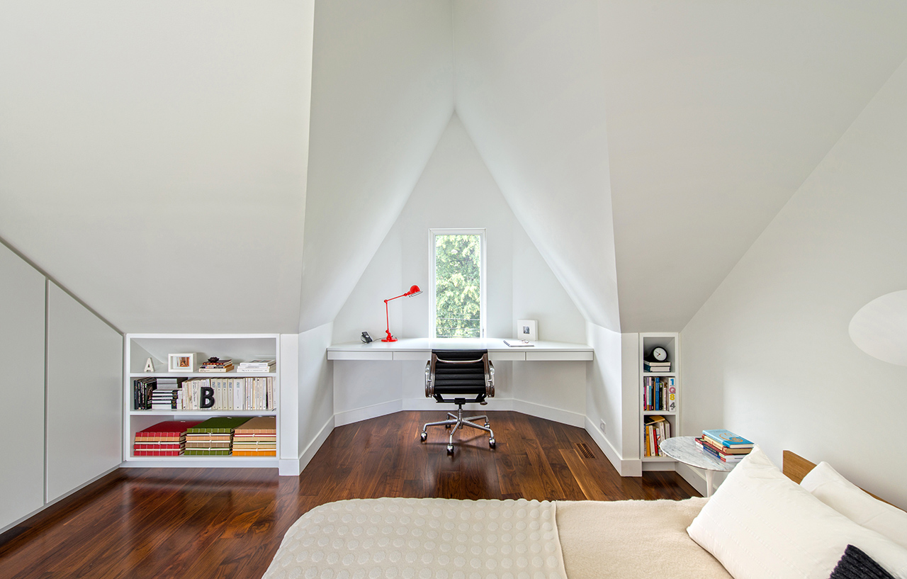 Toronto Contrast House Master Bedroom