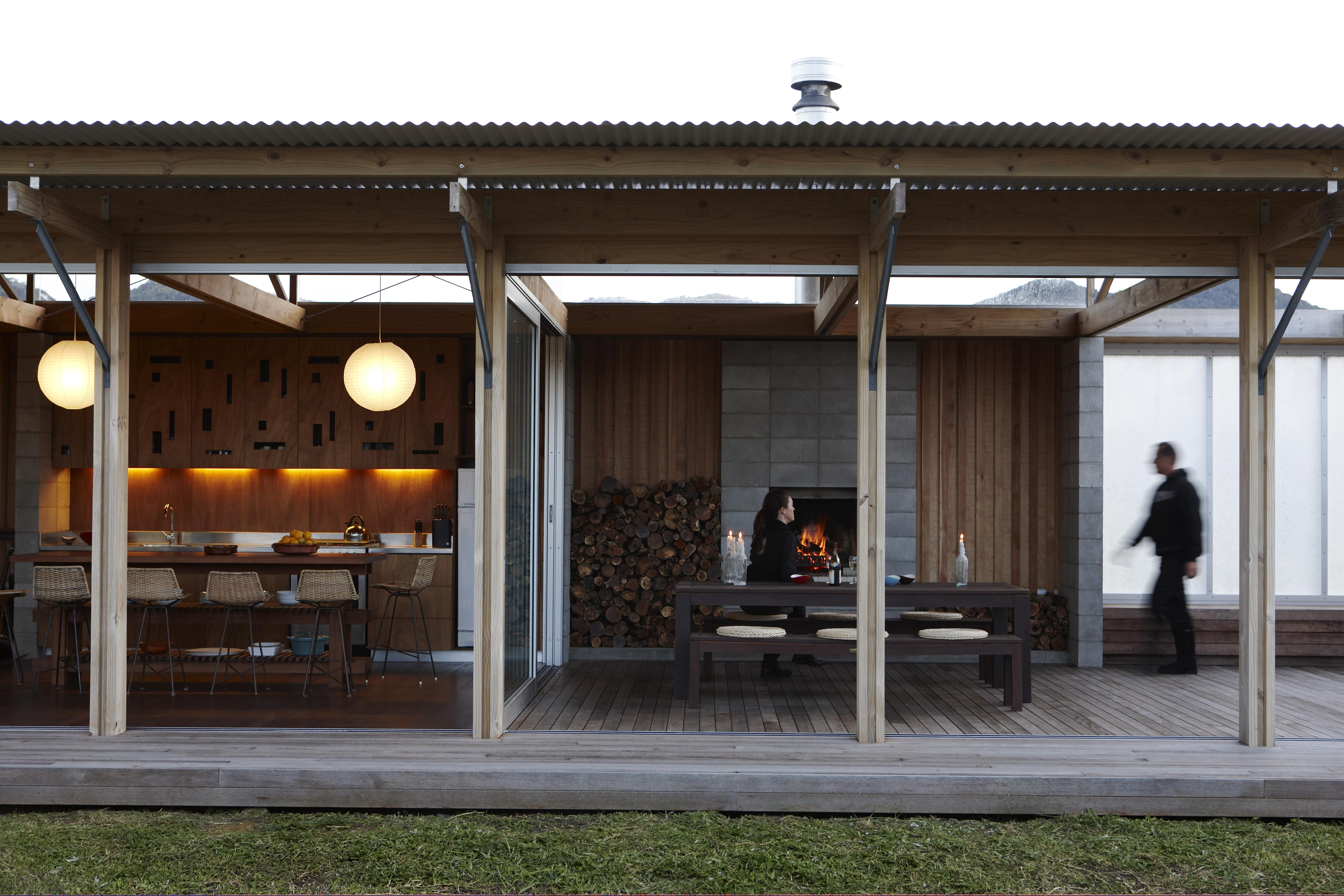 Compson Bach Beach House Kitchen and Deck