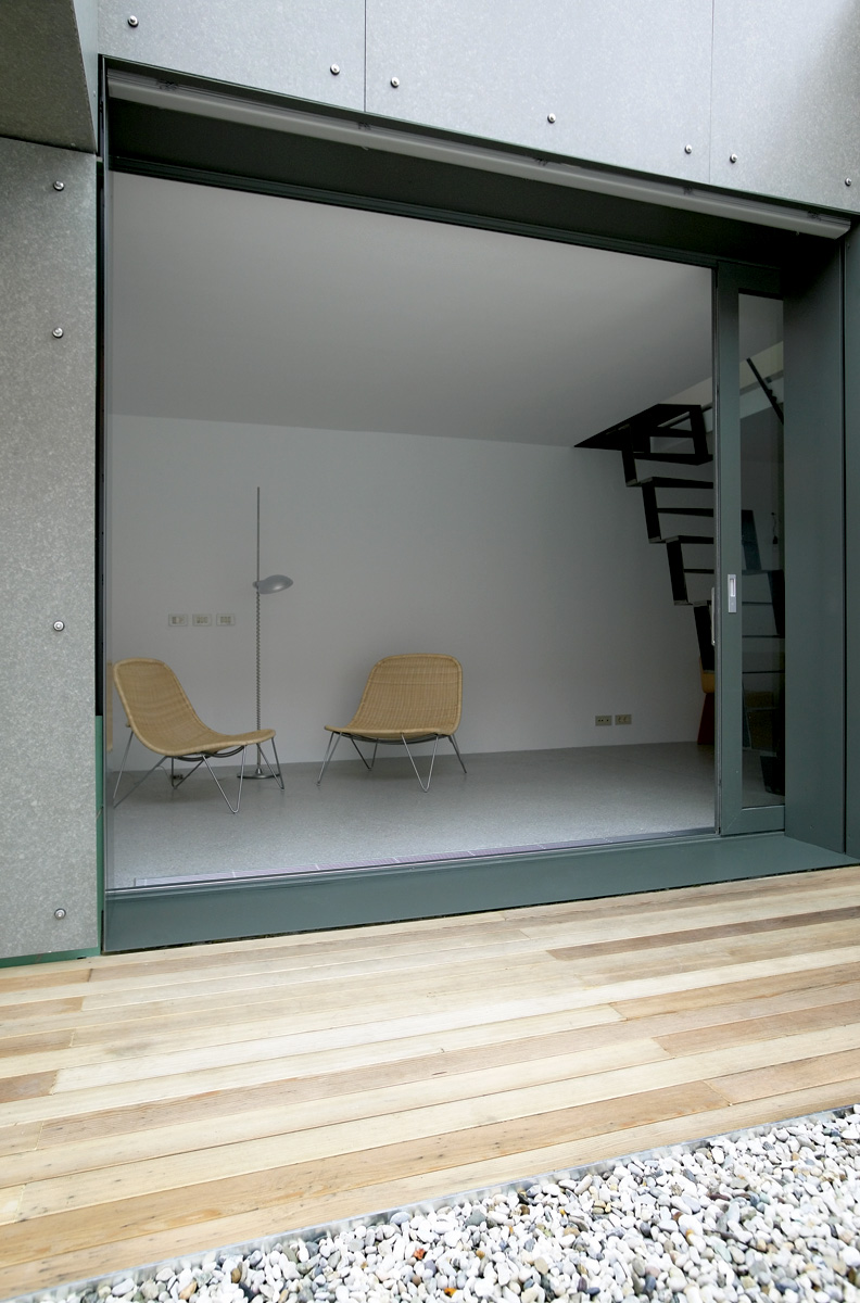 Ljubljana Micro House Sliding Window Wall and Atrium