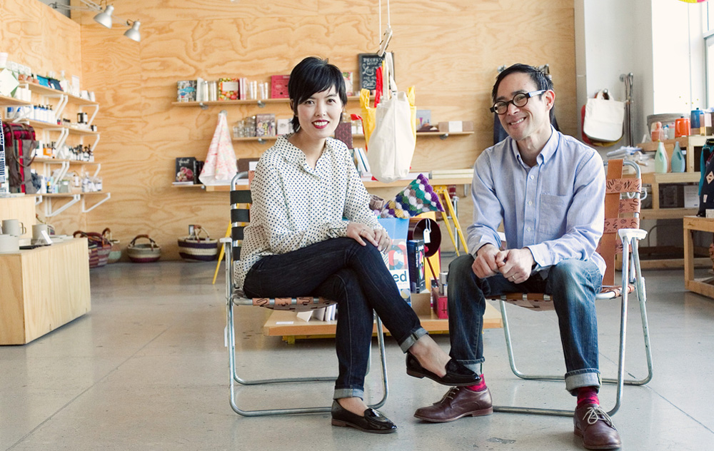 Design boutique Poketo and its owners Ted Vadakan and Angie Myung