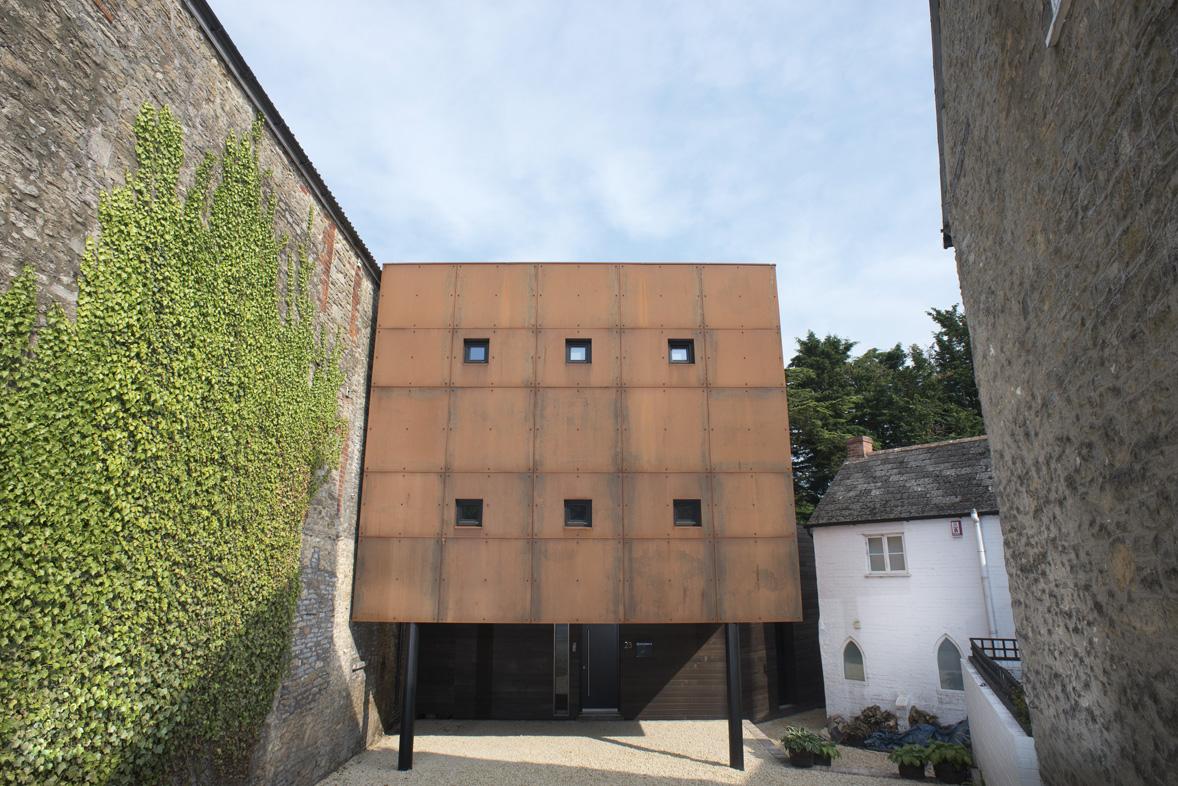 Ferrum House Steel Cladding Facade