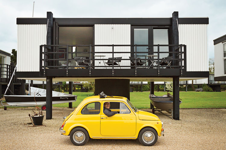 elevated deckhouse england exterior