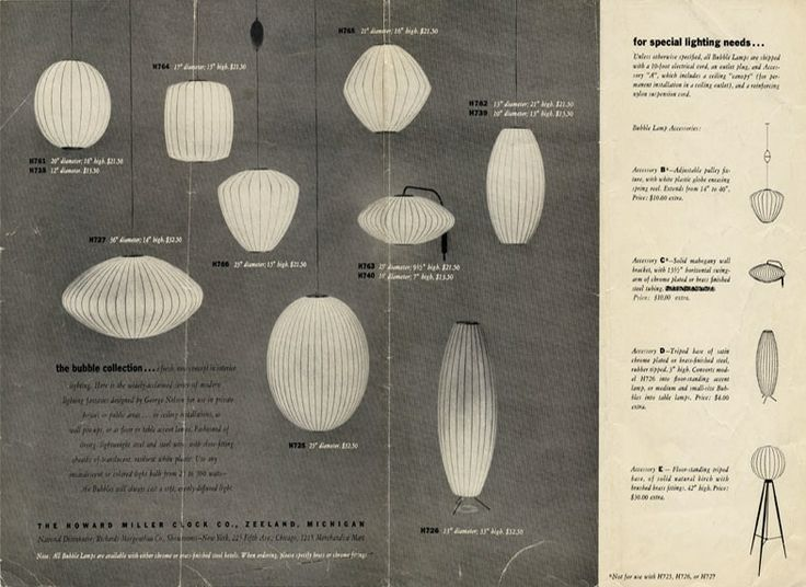 Archival advertisement for George Nelson Bubble Lamps