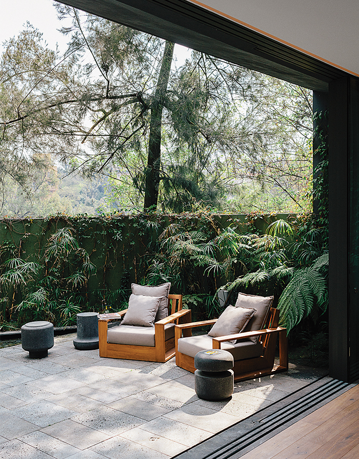 Patio in a Mexico City home