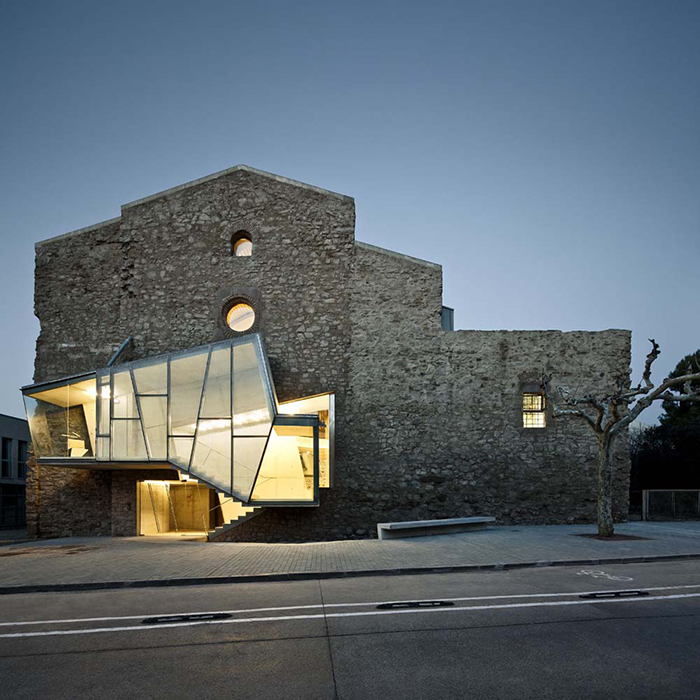 Modern religious architecture like the St. Francesc facade