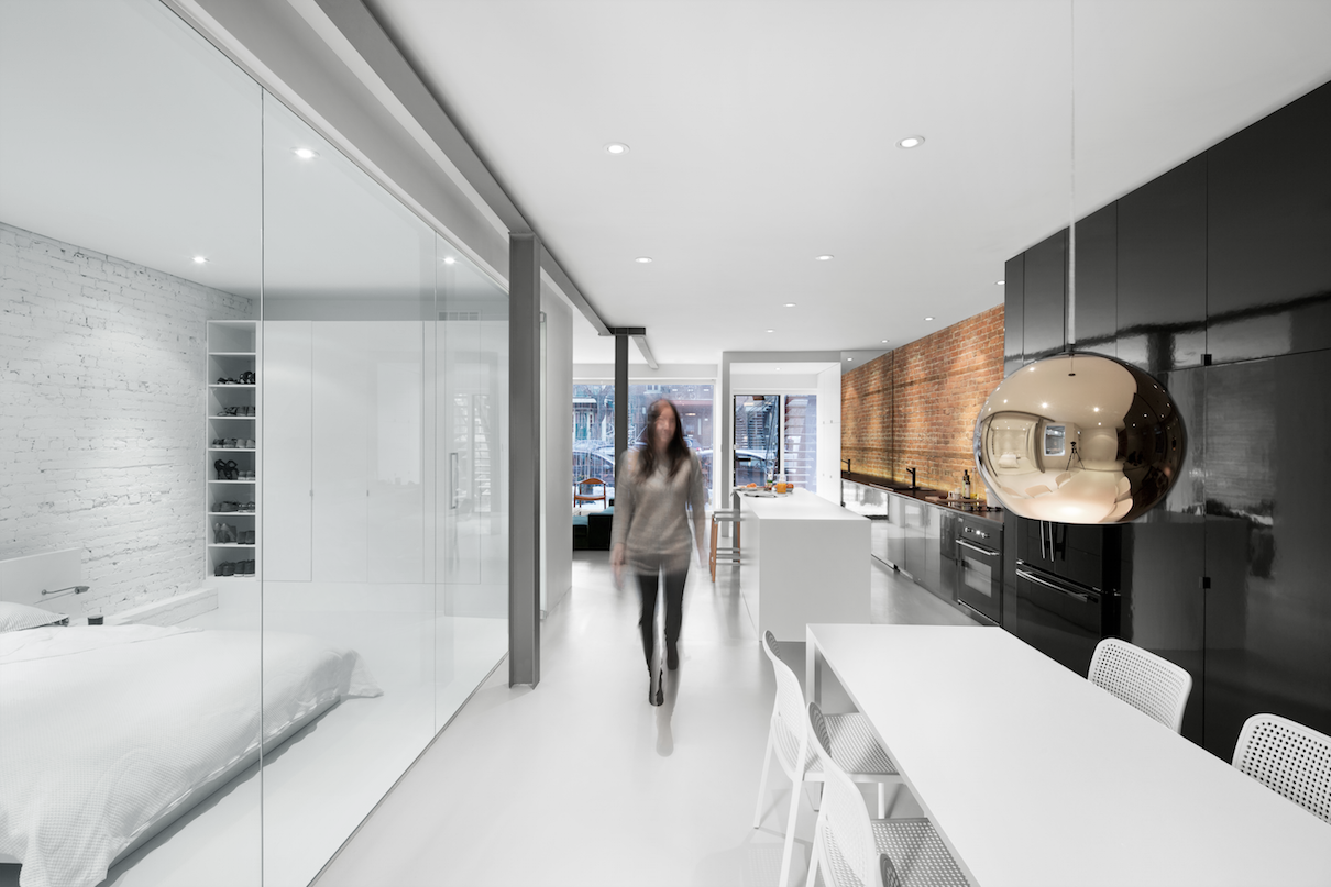 Montreal apartment with radiant floor heating