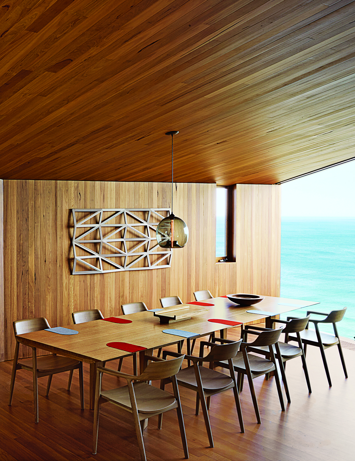 modern fairhaven beach house blackbutt eucalyptus dining room table