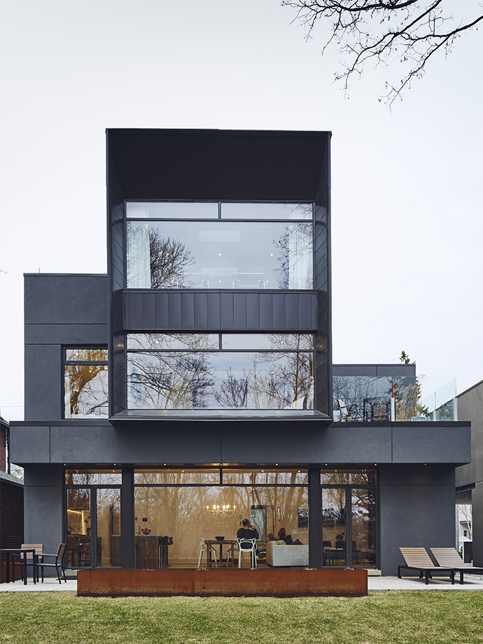 Modern Toronto house with an aluminum paneled exterior