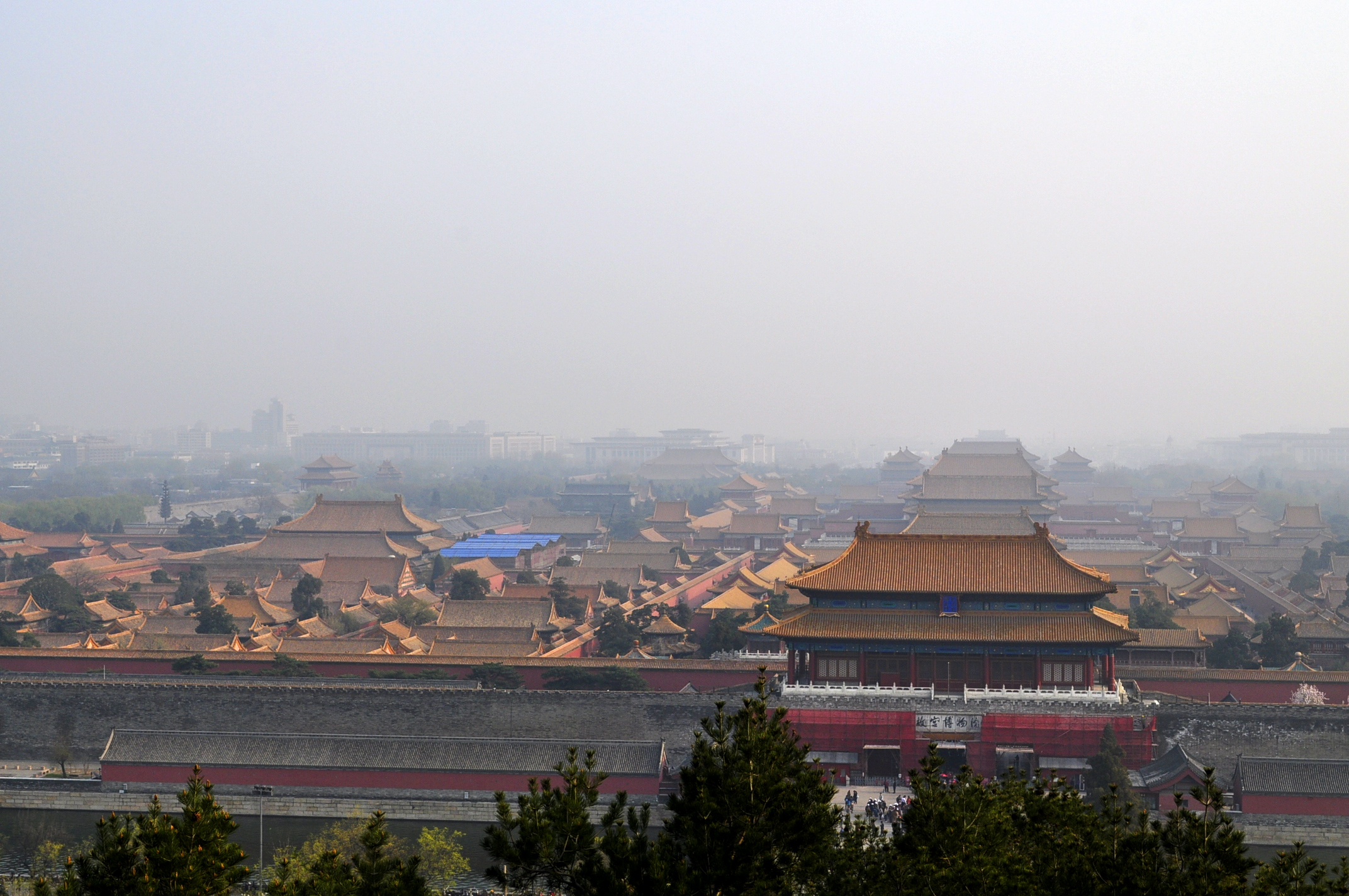 Jingshan Park overlooking Forbidden City, Beijing, China