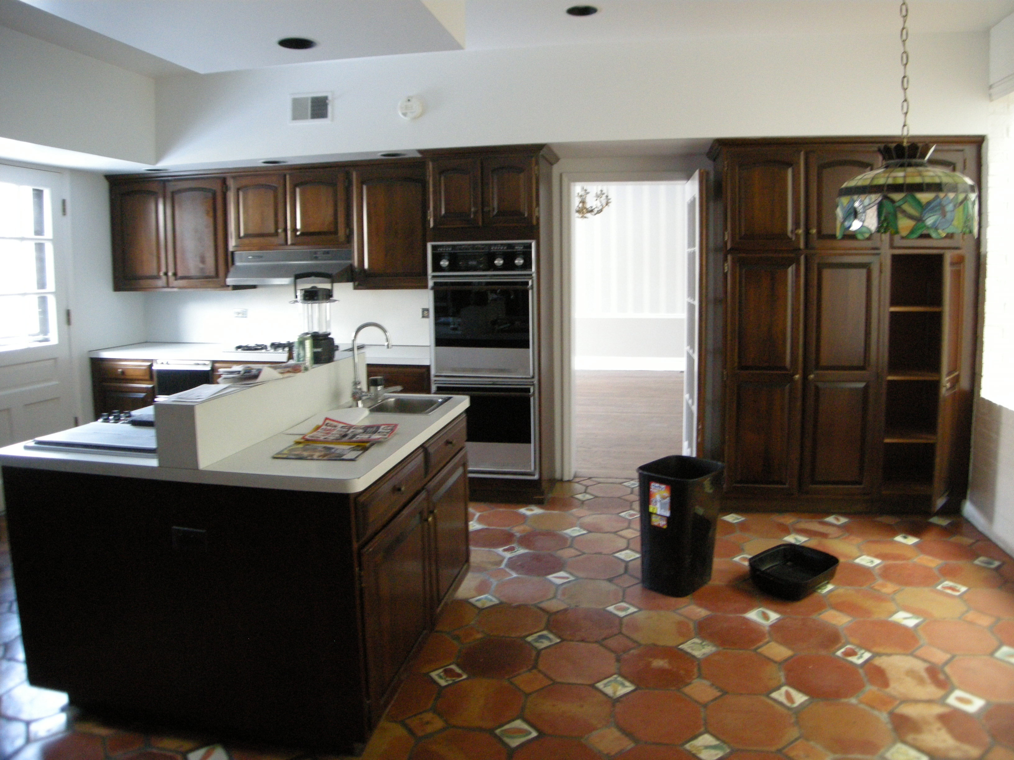 """Before"" picture of kitchen of Chicago renovation by dSPACE Studio."