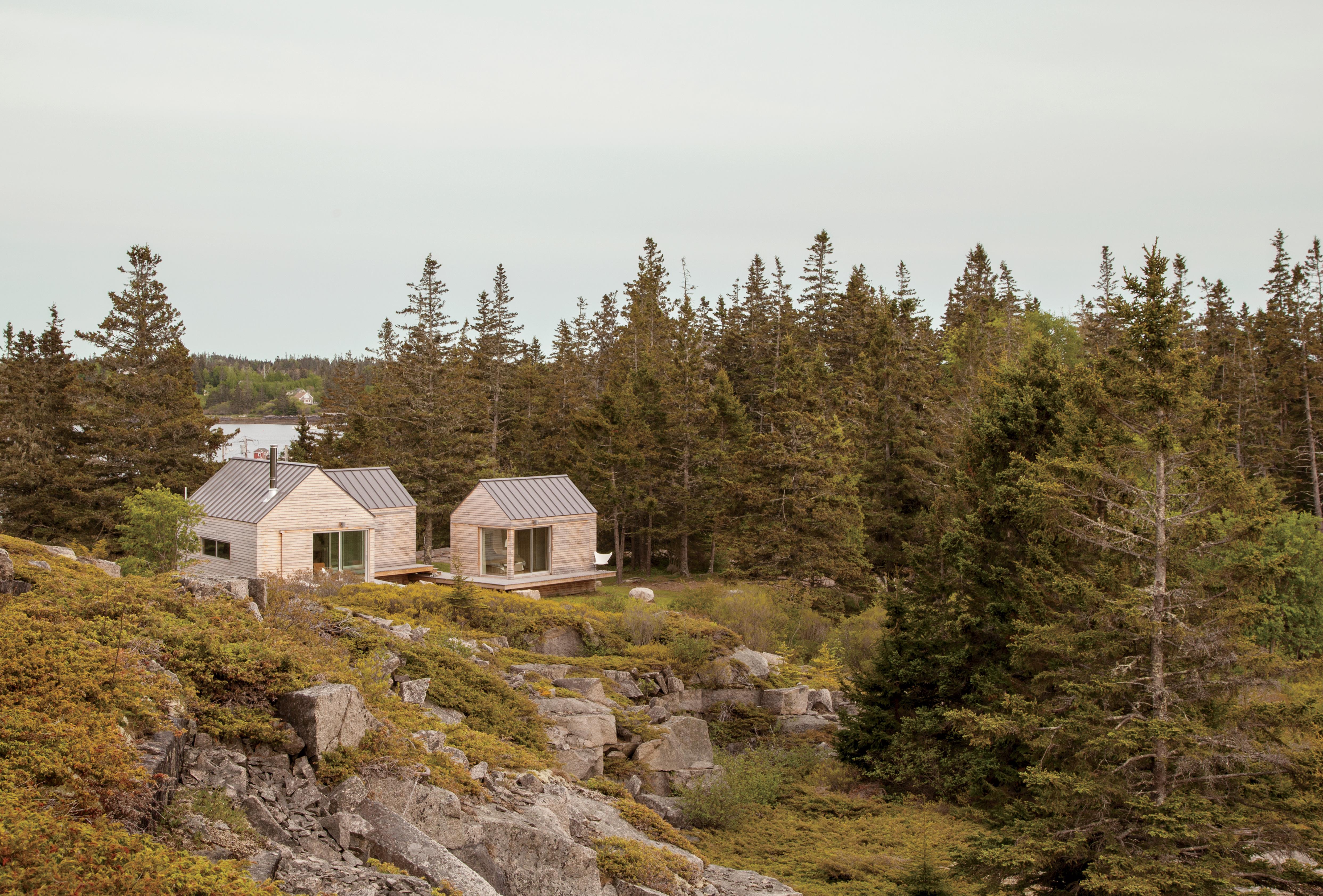 Vinalhaven cabins exterior