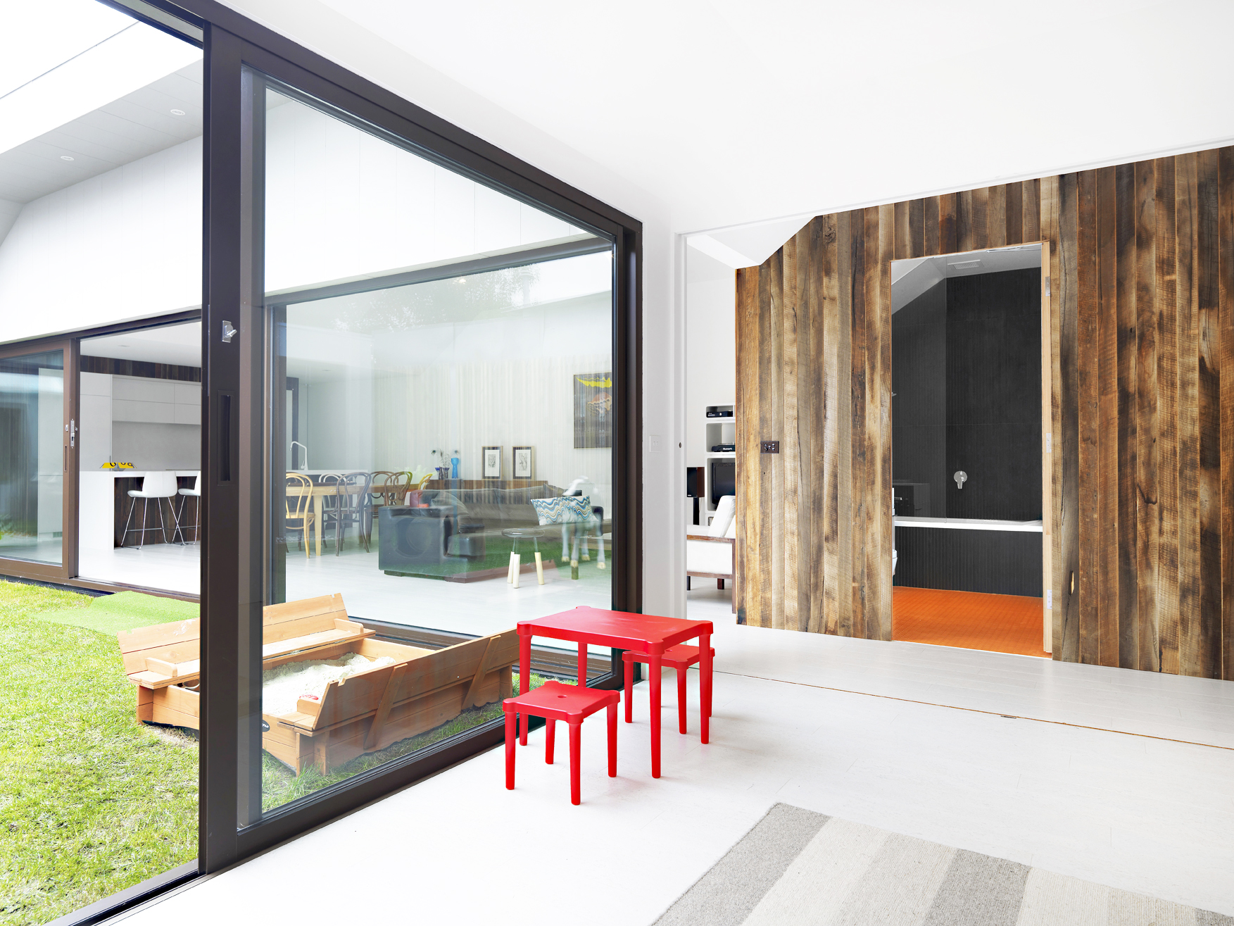 """Historical """"Dunny Block"""" in a renovated 1850s prefab cottage Melbourne"""