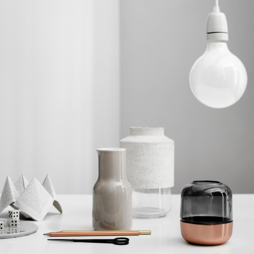 Copper and Luster Glass Hurricane Lamp by Norm Architects for Menu, $49.95 at the Dwell Store